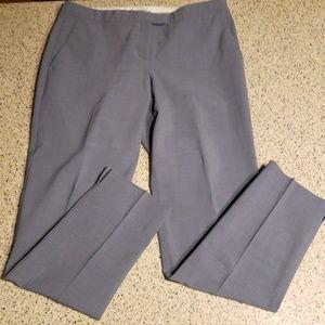 Theory SZ 10 slim gray dress pants